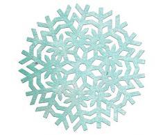 Cercles Lynn Designs Napperon Découpe géométrique Flocon de Neige, 7,6cm x 7,6cm, Acrylique, Multicolore