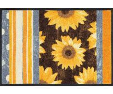 Wash+Dry paillasson 069782 Sunny Stripes, Résine Acrylique, Multicolore, 50x75 cm
