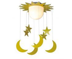 Wonderlamp W-A000129 Plafonnier pour enfant Jaune
