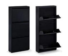 Dcasa Lot de 3 tiroirs en métal pour Chaussures, Accessoires de Rangement pour Armoire, Articles pour la Maison, Unisexe, Adulte, Couleur Unique