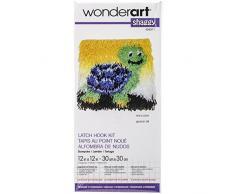 Spinrite Polyester mélangée à poils longs Kit de tapis crocheté 12 x 12, Slowpoke