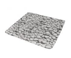 Kleine Wolke Tapis de Douche Stepstone 55x55 cm en Gris PVC, 80 x 150 cm