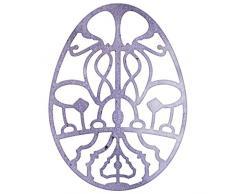 Cercles Lynn Designs œuf en dentelle napperon 15,2cm Die, acrylique, multicolore, 2,5x 1.875-inch