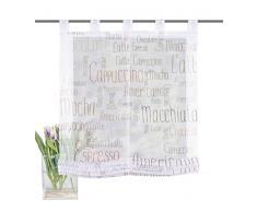 Home Fashion Store Bateau à Passants en Voile Impression numérique Mocha, Polyester, Marron, 140x 100cm