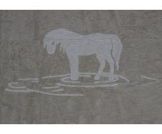 Aratextil Hippocampe Tapis pour Enfant, Coton, Beige, 120Â x 160Â cm