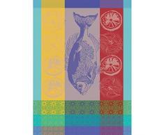 Garnier Thiebaut Torchon, Coton, Turquoise, 56x77 cm