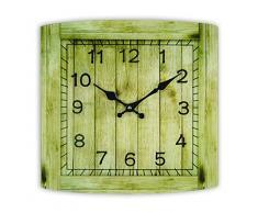 Zep GP14 Horloge Murale en Verre Cambridge, Beige, Gris, Blanc, 34 x 34 x 3,5 cm