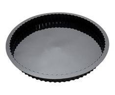 Cake en Stock MS415 Moule à Tarte Silicone Platine Diamètre 28 cm x Profondeur 3,5 cm