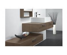 MobilierMoss 13432521904 Tonia Ensemble de salle de bain design 1 vasque MDF Noyer 100 x 48 x 20 cm