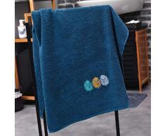 douceur dintérieur drap de douche 70x130 cm eponge brodee fougerys bleu