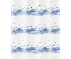 Kleine Wolke 0856733305 Seaside Rideau de Douche Bleu 180 x 200 cm