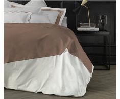 Suite 2603 by Adolfo Carrara Studio Design Drap supérieur, 100% Coton, lit, 39x 26x 4cm 39x26x4 cm Bronze