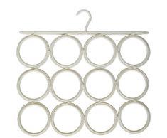 laroom 13328–Porte-Serviette Mouchoirs et Porte Cravate, Blanc
