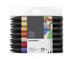 Winsor & Newton Promarker Set de 12 Marqueurs + 1 blender Manga Expansion 1