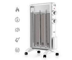 TURBRO Arcade HR1020 Chauffage Mica à Ondes Thermiques 2000 W Chauffage électrique avec Thermostat réglable, minuterie et télécommande, Silencieux pour la Maison et Le Bureau 220-240 V (Noir)