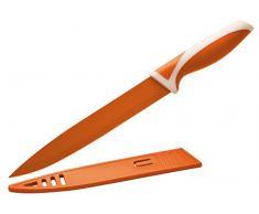 Eliplast Ligne Cuisine Couteau Slicer, Acier Inoxydable, Orange