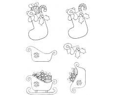 Art Stamps BH pour découpage Motif sapin de Noël et Pud Tampon