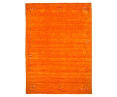 Morgenland Gabbeh Tapis FENTH 200 x 200 cm carré Orange Bordures design Tapis en laine douce fait main Loribaft Oriental Moderne