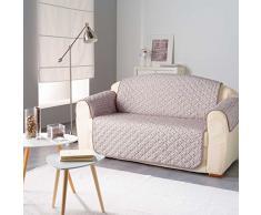Douceur dIntérieur Protège de canapé Matelasse, Polyester, Taupe, 179x279 cm