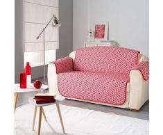 Douceur dIntérieur Protège de canapé Matelasse, Polyester, Rouge, 179x223 cm