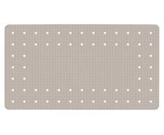 WENKO 23145100 Tapis antidérapant de baignoire Mirasol Taupe, Caoutchouc naturel, 69x39 cm