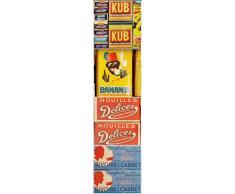 plage 260558Smooth-Tiles Stickers pour carrelage Vintage, 6Archet, Vinyle, Multicolore, 15x 0,1x 15cm