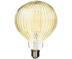 Lighted Ampoule LED Globe strie E27, 6 W, doré, 125 x 175 mm
