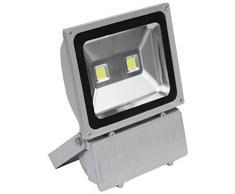 hepoluz projecteur lED 4000Â K, 100Â W, Argent, 37.5Â x 7.8Â x 28.3Â cm