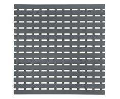 WENKO 23125100 Tapis antidérapant pour douche Arinos, Gris, Plastique, 54 x 54 cm