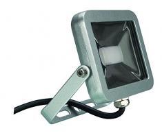 Perel LEDA4001NW-SG Projecteur LED Design, Aluminium, 10 W, Blanc