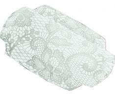 Kleine Wolke Textilgesellschaft 4103146008 Spitze Coussin pour Baignoire Plastique Gris Argent 32,00 x 22,00 x 3,00 cm