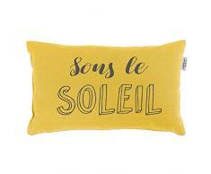 Le Jardin des Cigales Coussin 30 x 50 cm Coton imprimé Pacifique jaune soleil
