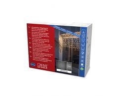 Konstsmide 4930-112 Système Compact à Maxi-LED Kit de Base Rideau Lumineux + Transformateur Plastique 4 watts Blanc