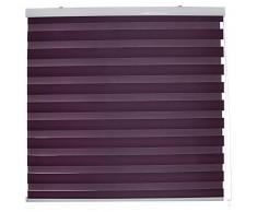 Blindecor Nd100 Store Enrouleur Double Tissu Nuit et Jour 100 x 180 cm Violet
