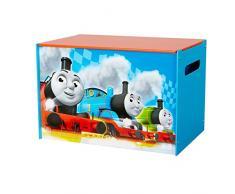 Thomas le train 866016 Coffre de rangement Bois Bleu/Rouge 39,5 x 59,5 x 39,5 cm