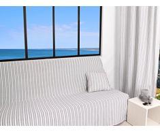 Soleil d'ocre Jeté de canapé 170x250 cm COTONADE Gris Clair, Polyester Coton, 250x170 cm