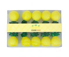 Party Pro 8045 Guirlande Ananas Lumineuse, Plastique, Jaune/Vert, 160 x 6 x 4 cm