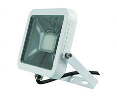 Perel LEDA4002NW-W Projecteur LED Design, Aluminium, 20 W, Blanc