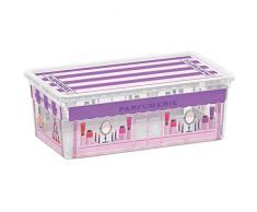 Kis 8407000 1840 01 C Box Style Boutiques Boîte de Rangement Plastique Multicolore 6 L
