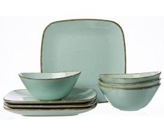 Ritzenhoff & Breker Service de Table CASA, 8pièces, Céramique, Bleu, 33x 33x 18cm, 8unités de