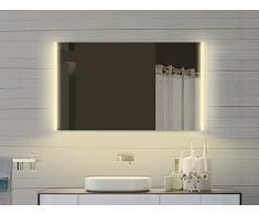 Miroir lumineux miroir de salle de bain Miroir de salle de bains avec lumière dans chaud & froid – 100 x 72 cm