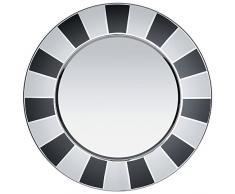 Alessi MW33 Set de table de cirque en acier inoxydable 18/10, Blanc/Noir