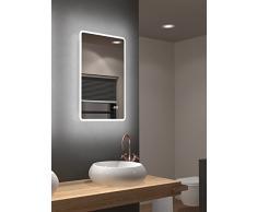 Miroir de salle de bains à DEL Talos Sun avec éclairage blanc chaud - cadre lumineux - 45x70 cm