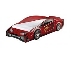 Vipack SCLBO200R LAMBO Lit voiture Rouge MDF 226 x 98 x 61 cm