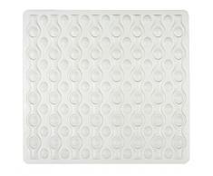 Wenko 23132100 Tapis de Douche, Caoutchouc Naturel, Blanc, 54 x 52 x 0,1 cm
