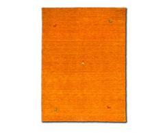 Morgenland Gabbeh Tapis SAHARA moderne 250 x 250 cm carré orange unicolore motifs animaliers Loribaft nouvelle laine fait main doux