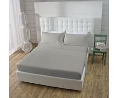 Jaime la maison atelier complet lit, Coton, gris, Double, 240x 290cm, 4unités