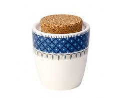 Villeroy & Boch Casale Blu Sucrier, Porcelaine Premium/Liège, Blanc/Bleu