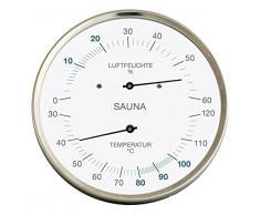 Fischer sauna Thermohygrometer, Acier inoxydable, 130Â x 130Â mm