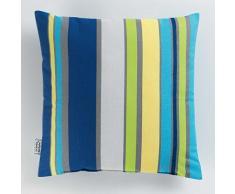 Le Jardin Des Cigales Coussin 40 x 40 cm Coton imprimé Marina Bleu